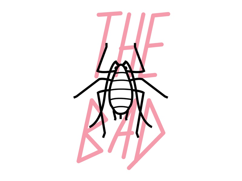 The Bad bug aphid harmful bad type insect illustration agriculture ag mark logo vector typography graphic design