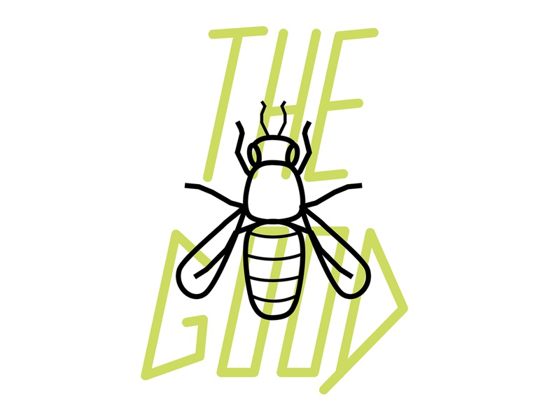 The Good honey beneficial bug type insect illustration agriculture ag mark vector logo typography graphic design