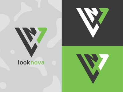 LookNova Identity nova look triangle communications identity design branding illustration typography mark logo vector graphic design