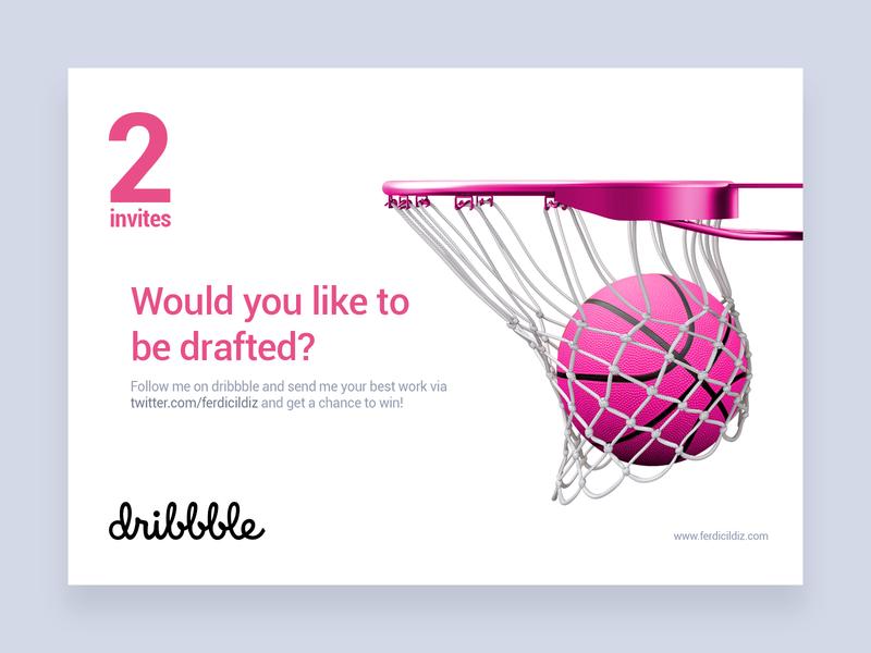 2 Dribbble Invitations draft invitation dribbbleinvites