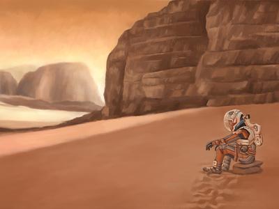 Keep hoping mars painting man digital arts