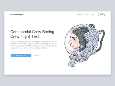 use of Illustrations - for web astronauts space