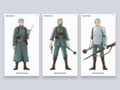 Character illustration - World war I - German Empire illustration army soldier