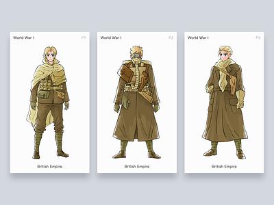 Character illustration - World war I - British Empire arts man painting character illustration