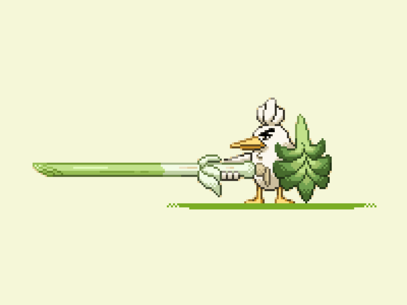 Sirfetch'd pixelart pixel painting illustration
