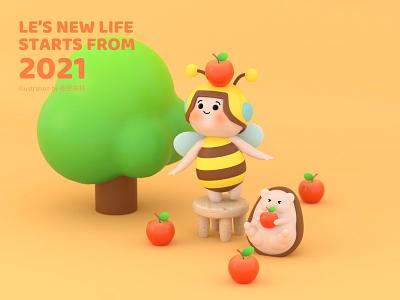Le's new life——autumn 乐蜂 夜夜森林 ui c4d design illustration
