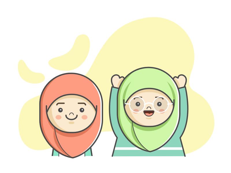 Muslim Kids Illustration With Sketch App By Diana Eka On Dribbble