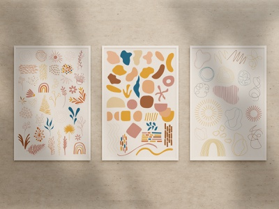 Mix'n'Match Collection modern abstract design photoshop pattern mock up illustrator vector
