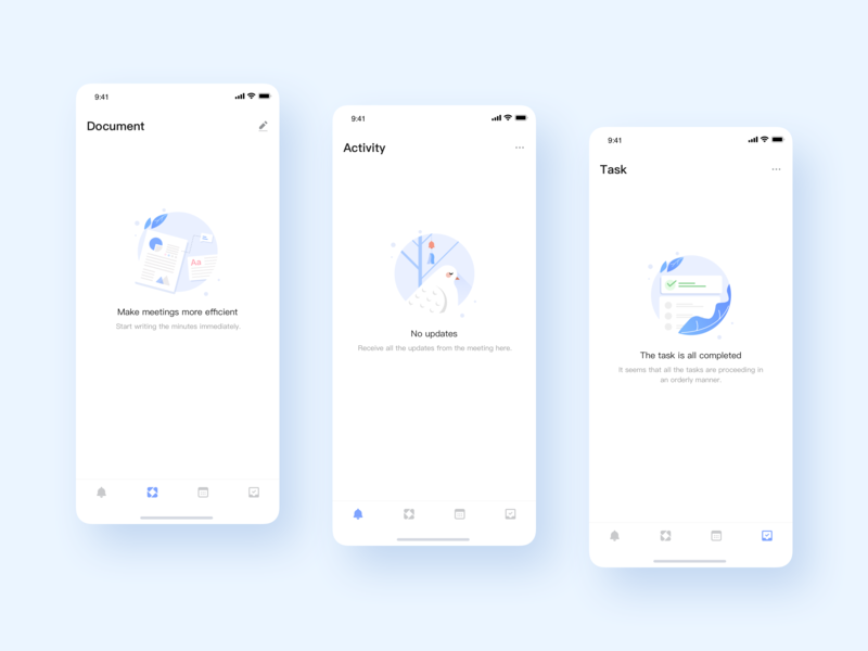 Empty Page app ui illustration