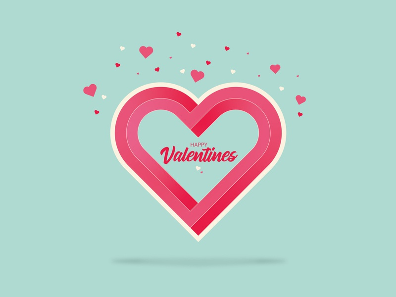 Impossible Valentines Day Heart heart logo heart valentines day valentine day adobe illustrator vector artworks illustration vector artwork vector art vector design