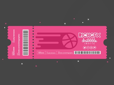 Ticket Design - Adobe Illustrator Tutorial + Dribbble Invite adobe illustrator vector artworks vector artwork vector art vector illustration dribbble invite invite giveaway invite ticketing design event ticket