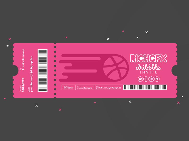 Ticket Design - Adobe Illustrator Tutorial + Dribbble Invite adobe illustrator vector artworks vector artwork vector art vector illustration dribbble invite invite giveaway invite ticketing design event ticket