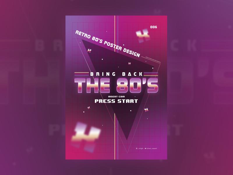 Retro 80's Style Poster Design - Adobe Illustrator Tutorial adobe illustrator vector artworks vector artwork vector art vector illustration design advert poster design abstract posters poster retro vintage