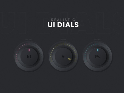 UI Dial Design - Adobe Illustrator Tutorial user interface userinterface ui  ux ui design uidesign uiux ui vector art vector design illustration