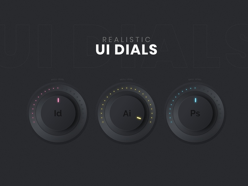 UI Dial Design - Adobe Illustrator Tutorial user interface userinterface ui  ux ui design uidesign uiux ui vector art vector design illustration