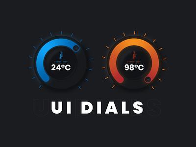 Circular Thermostat UI Dial Design - Adobe Illustrator Tutorial vector art vector logo adobe illustrator vector artworks vector artwork design uxui interface ui