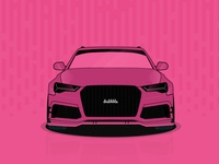 Audi RS6 - Vector Illustration - Just for Fun