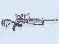 Fortnite Sniper - Flat Gun Design