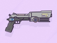Drawing A Fortnite Pistol in Adobe Illustrator