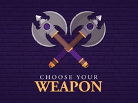 Illustrator Axes - Game Weapon Design