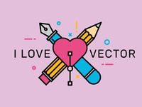 I Love Vector - T-Shirt Design