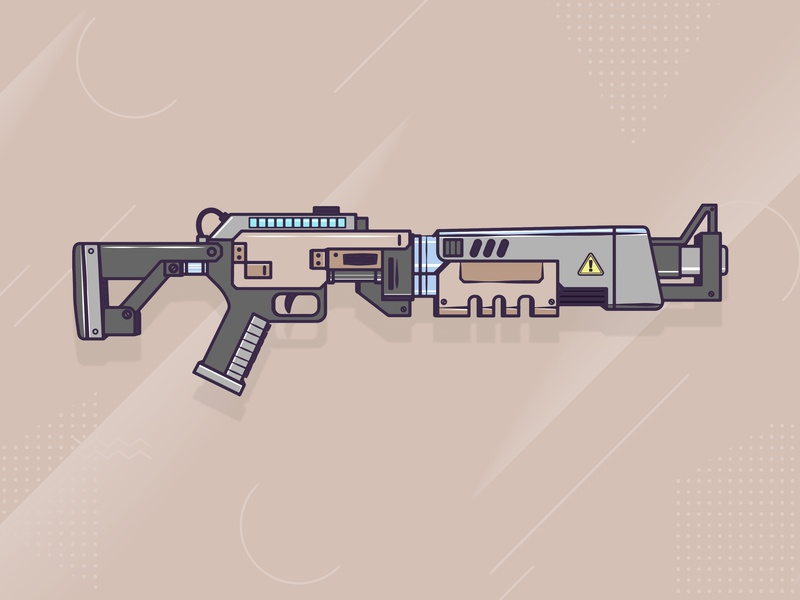 Fortnite Shotgun in Adobe Illustrator logo icon twitch game art fortnite adobe illustrator adobe gaming games digital vector artworks vector artwork vector art vector illustration design