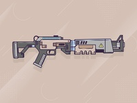 Fortnite Shotgun in Adobe Illustrator