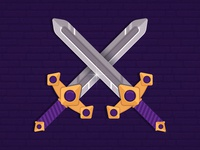 Fantasy Sword Weapon in Adobe Illustrator