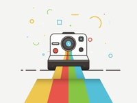 Polaroid Camera Icon Design in Adobe Illustrator
