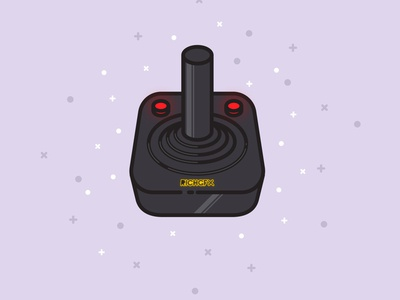 Retro Joystick Illustration Design in Adobe Illustrator