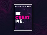 Abstract Wavy Lines Poster Design in Adobe Illustrator