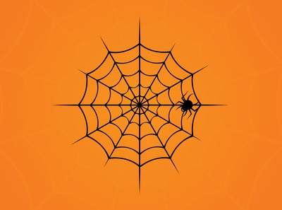 Halloween Spiders Web in Adobe Illustrator