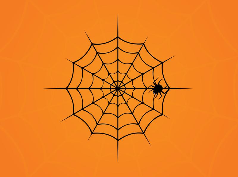 Halloween Spiders Web in Adobe Illustrator halloween design adobe illustrator digital vector artworks vector artwork vector art vector illustration design spider web web spider halloween