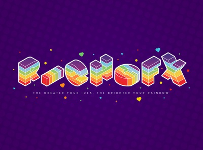 Isometric Rainbow Text Effect in Adobe Illustrator
