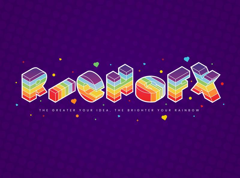 Isometric Rainbow Text Effect in Adobe Illustrator typography illustrator vector artworks vector art vector artwork illustration vector design isometric illustration isometric design isometric art isometric