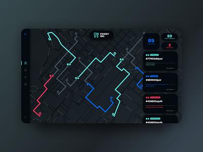 Logistics Desktop Concept delivery dashboard ui tracking uiux ui dark interface desktop app logistics