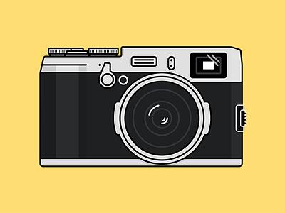 Fuji X100S fuji x100s illustration linework camera
