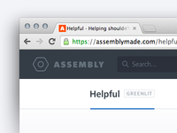 Assembly — Navigation bar states