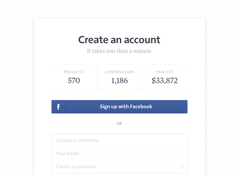 Assembly — Sign Up & Log In assembly asm minimalist product idea sign in sign up log in facebook account