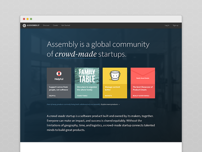 Assembly — New Landing Page