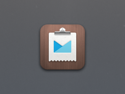 @2x Icon campaign monitor app ios ipad retina icon clip metal wood