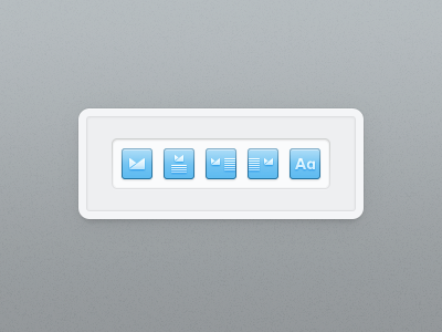 Alignment icons ios icons campaign monitor blue glyph alignment