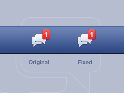 You won't be able to un-see it… facebook border radius glyph fb ios