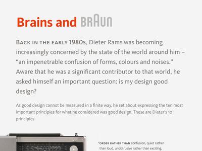 Brains and Braun