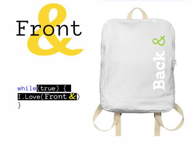 Logotype for Rambler&Co — back-end, front-end  front-end back-end logo typography identical