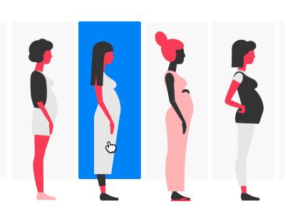 Рregnancy widget illustration woman widget pregnancy