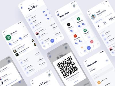Blockchain Mobile App store app flat design blockchain cryptocurrency inspiration creative ux ui white simple clean ui app design wallet blockchain mobile design design application