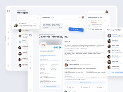Web-Portal for Insurance Company insurance company inspiration social network social app simple clean ui blue platform creative web application ui ux design