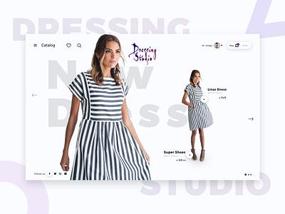 Dressing Studio Design Concept shop app ux ui design website ecommerce fashion