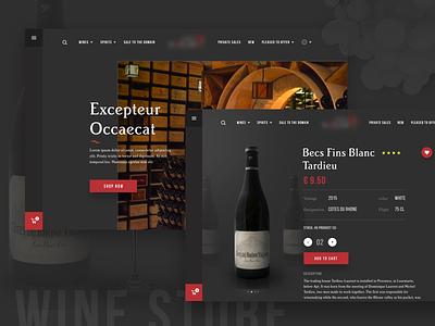 Wine store landing template alcohol ecommerce design ux ui website wine shop store